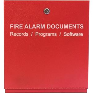 SAE Fire Alarm Storage Cabinet RED