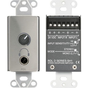 RDL Stereo Headphone Amplifier - Decora Panel with User Level Control