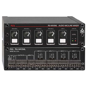 RDL RACK-UP RU-MX5ML Audio Mixer