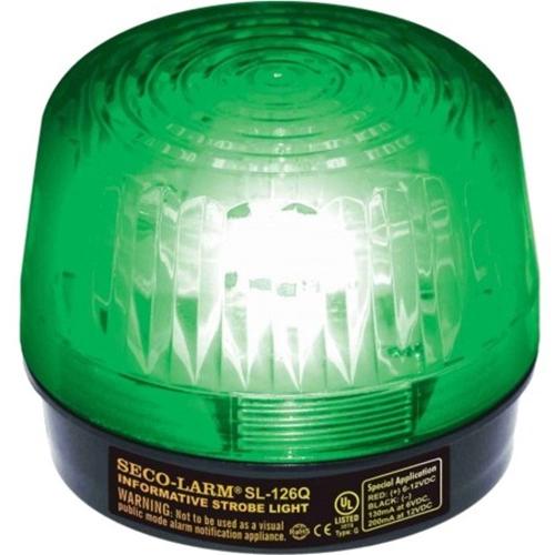 Seco-Larm Strobe Light, 6~12VDC, Green, UL