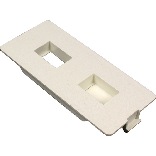 Wiremold 5500 Flush Dual RJ Connector Faceplate Fitting