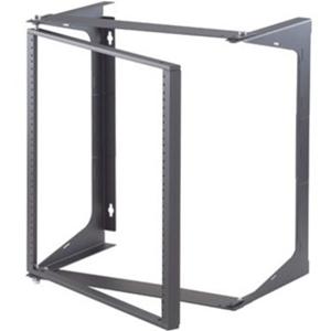 Ortronics Swing-EZ Wall Rack - Black - 25.00 in D