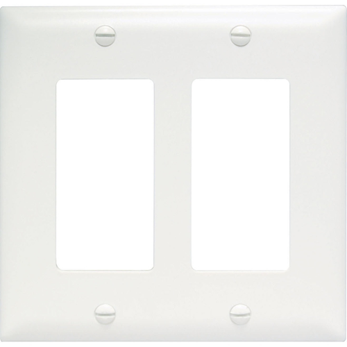 Pass & Seymour Decorator Openings, Two Gang, White TP262W