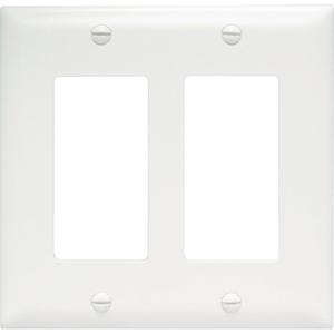 Pass & Seymour Trademaster 2-Gang Decorator Wall Plate, White (M20)