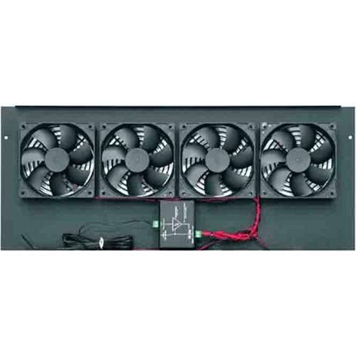 Middle Atlantic Fan Top, 276 CFM, w/Controller, BGP Series