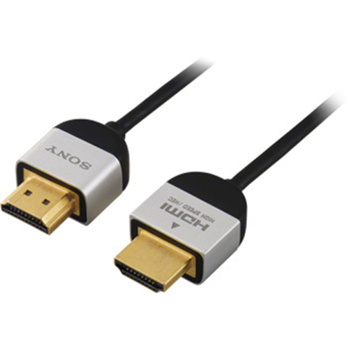 """Sony Slim High Speed 4K/3D/Ethernet HDMI 1.4 Cable - 3' 2"""""""