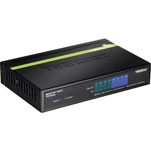 TRENDnet 8-port GREENnet Gigabit PoE+ Switch (4 PoE+, 4 Non-PoE)
