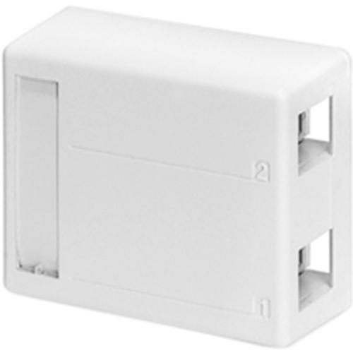 Leviton Surface Mount Box for Shielded Connectors 2-Port White