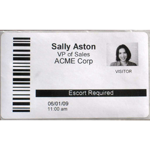 EasyLobby Badge Stock