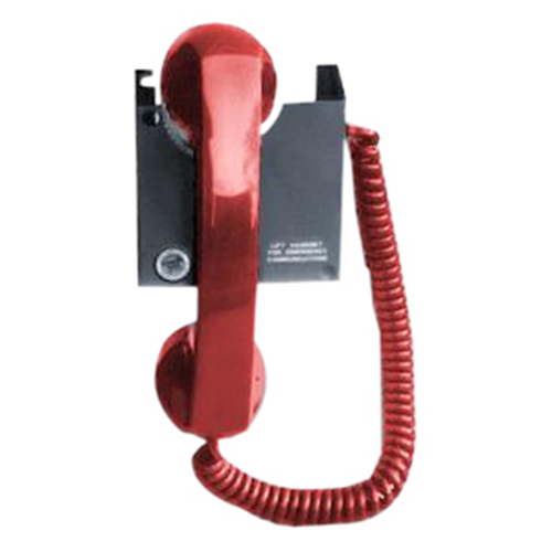 Edwards Portable Telephone Handset - Red with Coiled Cord