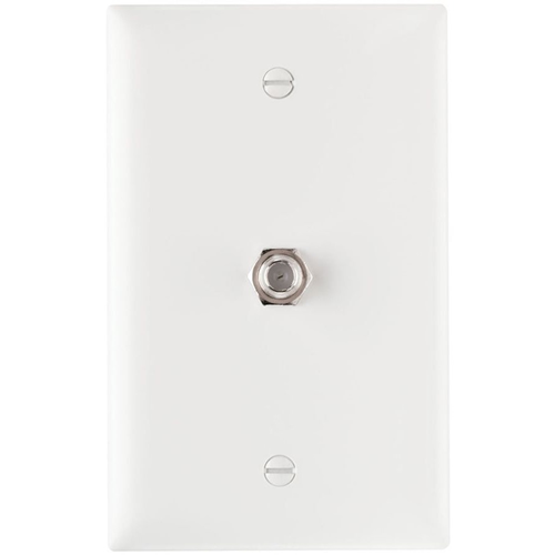 Legrand-On-Q 1 GHz F-Coupler Wall Plate, White (M10)