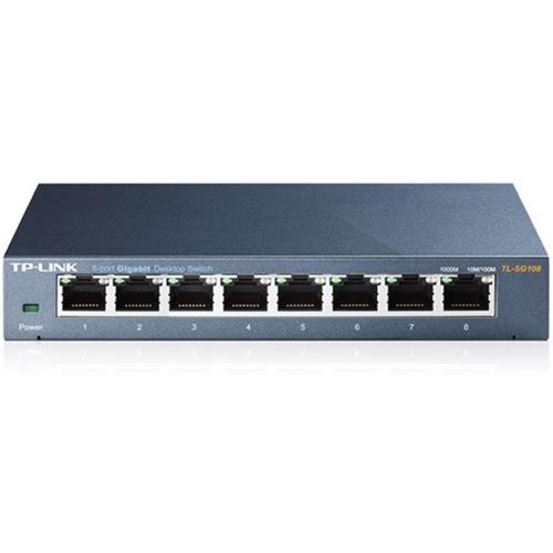 TP-LINK TL-SG108 8-Port 10/100/1000Mbps Desktop Gigabit Steel Cased Switch