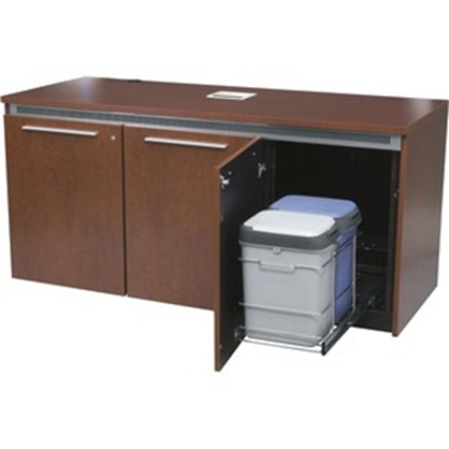 Middle Atlantic Two Bins On Slide-Out Frame Are Ideal For Recycling And Waste