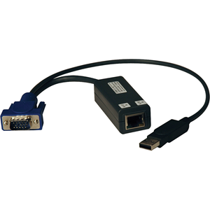 Tripp Lite USB Single Server Interface Unit Virtual Media KVM Switch HD15 USB RJ45 TAA