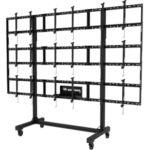 """Peerless-AV Portable Video Wall Cart 2x2, 3x2 or 3x3 Configuration For 46"""" to 55"""" Displays"""