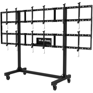 """Peerless-AV Portable Video Wall Cart 2x2 and 3x2 Configuration for 46"""" to 55"""" Displays"""