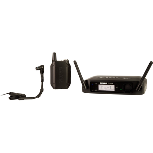 Shure Digital Wireless Instrument System with Beta 98H/C Clip-on Gooseneck Microphone