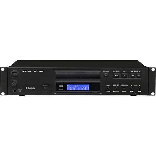 TASCAM Professional CD Player with Bluetooth Receiver CD-200BT