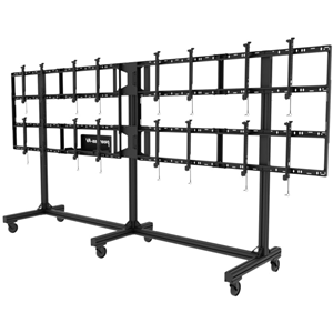 """Peerless-AV Portable Video Wall Cart2x2, 3x2 or 4x2 Configuration For 46"""" to 55"""" Displays"""