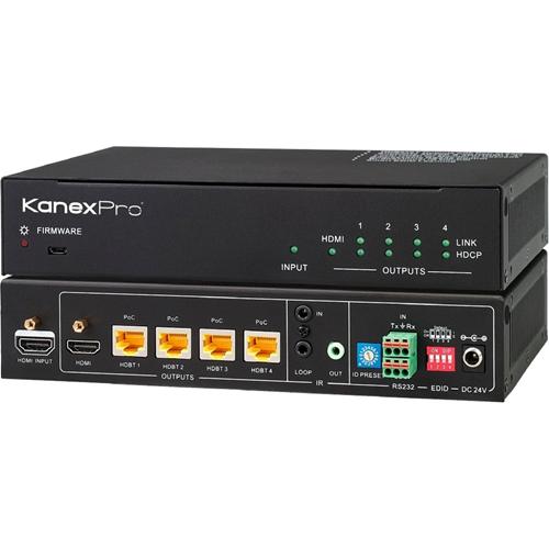 KanexPro 4K HDBaseT 1x4 Distribution Amplifier up to 230 feet (70m)