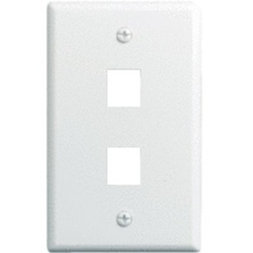 Legrand-On-Q 1-Gang, 2-Port Wall Plate, White WP3402-WH