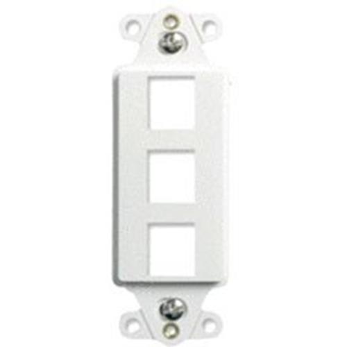 Legrand-On-Q 3-Port Decorator Outlet Strap, White