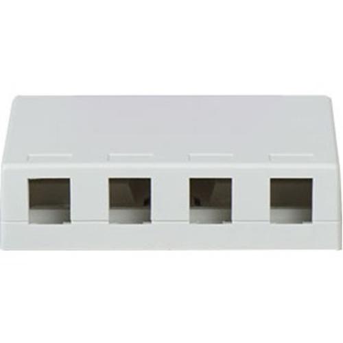 Legrand-On-Q 4-Port Surface Box, White
