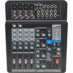 Samson MixPad MXP124FX - Compact, 12-Channel Analog Stereo Mixer with Effects and USB