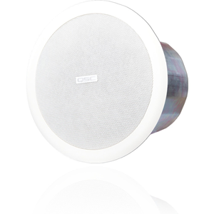 QSC AcousticCoverage AC-C6T 2-way Ceiling Mountable Speaker - 30 W RMS - White