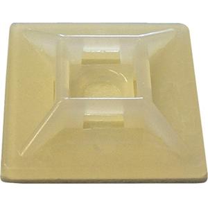 "W Box 1.1"" X 1.1"" Adhesive Mount 100 Pack Natural"