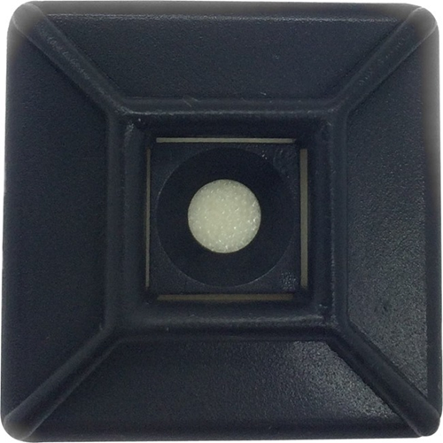"W Box 1.1"" X 1.1"" Adhesive Mount 500 Pack Black"