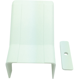 "W Box 3/4"" X 1/2"" Drop Ceiling Entry White 4 Pack"