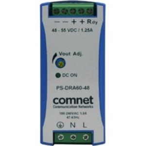 ComNet Industrial DIN Rail Mounting 60 Watt @ 48 Volt Power Supply