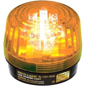 Enforcer LED Strobe Light, 54 LEDs, 100dB Siren, 9~24 VAC/VDC, Amber