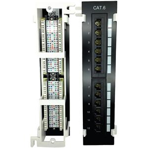 W Box Cat 6 Patch Panel 12 Port Vertical