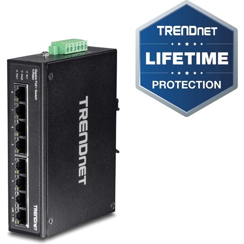 TRENDnet 8-port hardened Industrial Gigabit PoE+ Switch