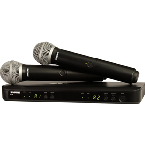 Shure Dual Channel Handheld Wireless System