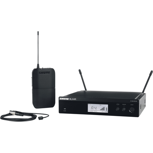 Shure Wireless Rack-mount Presenter System with WL93 Miniature Lavalier Microphone