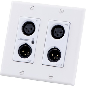Bose ControlSpace WP22B-D 2-in/2-out Dante Wall Plate