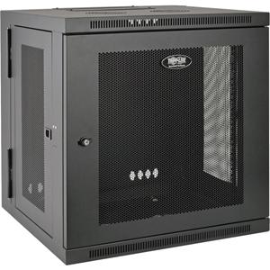 Tripp Lite 12U Wall Mount Rack Enclosure Server Cabinet Swinging Hinged Door Deep
