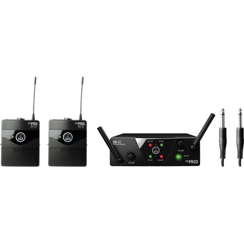 AKG WMS40 Mini Dual Instrumental Set Wireless Microphone System (Band: C & D)