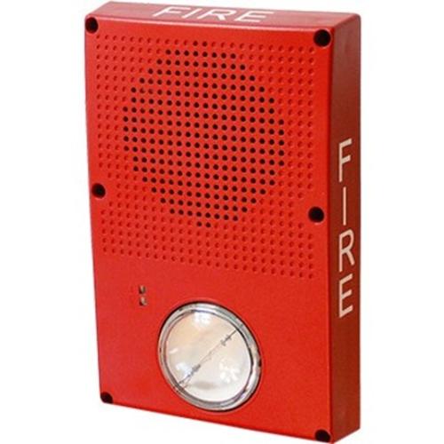 Edwards Signaling Speaker Strobe, Red, No Marking Red