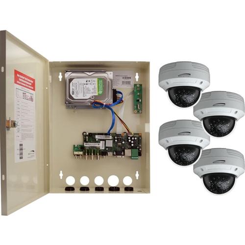 Speco 4 Channel HD-TVI Wall Mount Digital Video Recorder and HD-TVI Camera Kit