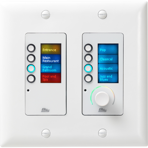 BSS EC-8BV Ethernet Controller with 8 Buttons and Volume Control
