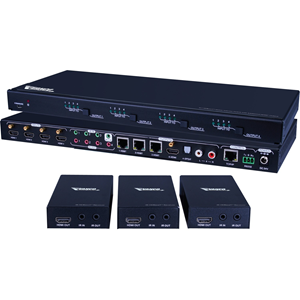 Vanco 4x3 HDBaseT Matrix Selector Switch with Additional HDMI Output
