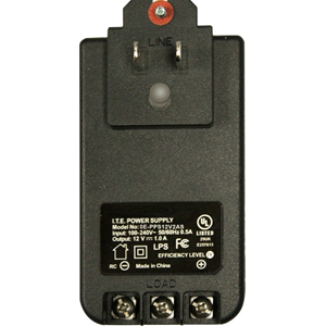 W Box 12VDC, 2 AMP Screw Terminal With Ground