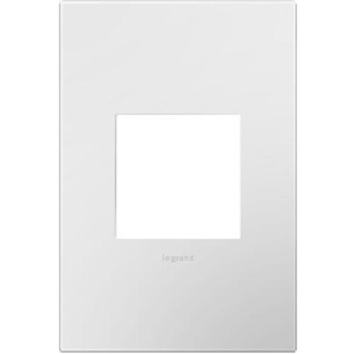 Legrand-On-Q 1-Gang Wall Plate, Gloss White