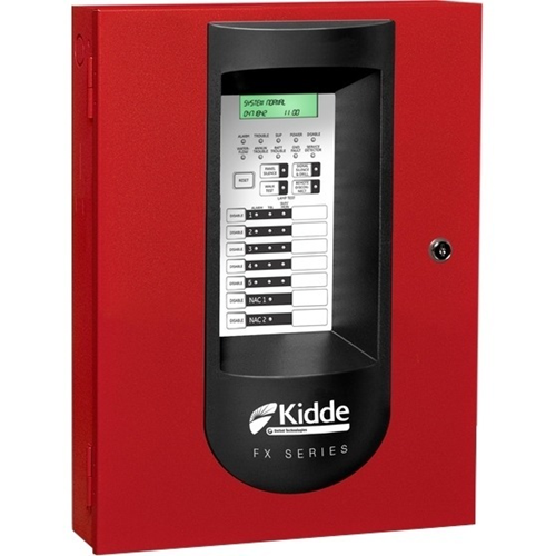 kidde 5 Zone Fire Alarm Panel Red 120VAC Power Source, 24VDC Output