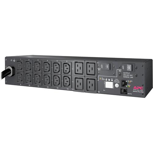 APC by Schneider Electric Rack PDU, Metered, 2U, 30A, 208V, (12) C13s & (4) C19