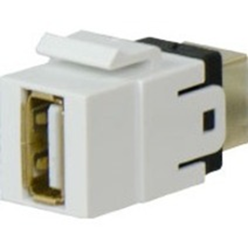Legrand-On-Q USB A/B White Keystone Adapter Insert